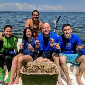 a picture of a cooler full of scallops harvested in Homosassa Florida