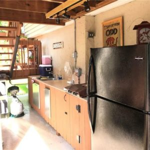 a picture of the crystal river fishing lodge outdoor kitchen
